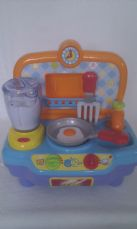Adorable My 1st Baby 'Cooker & Utensils' Lights up & Sounds Sturdy Toy